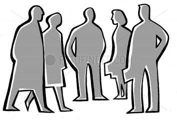 Menschengruppe stilisiert