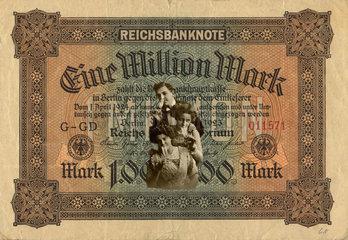 historischer Geldschein  eine Million Mark