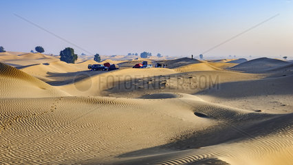 camp in the desert early morning   Dubai Emirates  United Arab Emirates (UAE)