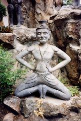 Thailand  Bangkok  Wat Po  Yogaskulptur
