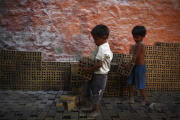 Child Labour in Brickyard
