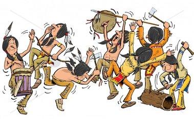 Indianerfest Tanz Serie Indianer
