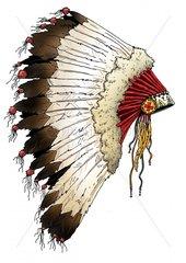 Haeuptling Federschmuck 2 Serie Indianer
