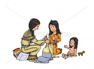 Serie Indianer Indianermaedchen
