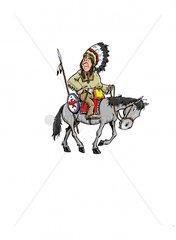 Haeuptling Serie Indianer Reiter 5