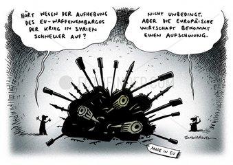 Europaer lassen Waffenembargo gegen Syrien auslaufen