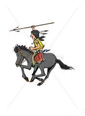 Serie Indianer Reiter 4