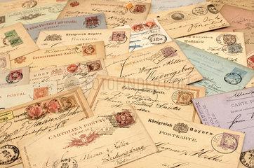 internationale Postkarten  19. Jahrhundert  1881 bis 1898