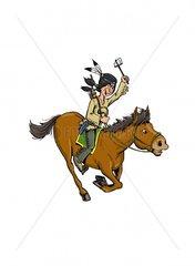 Serie Indianer Reiter 3