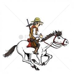 Reiter Cowboy 2 Serie Indianer