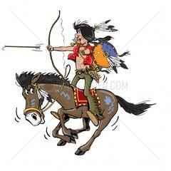 Serie Indianer Reiter 1