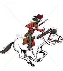 Reiter Cowboy 4 Serie Indianer
