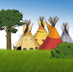 Serie Indianer Indianerdorf