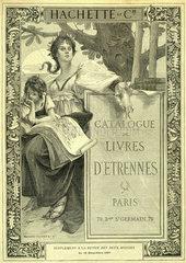 Buecherprospekt  Verlag Hachette et Cie  Paris  1891