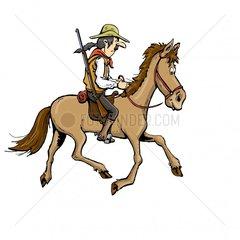 Reiter Cowboy 3 Serie Indianer