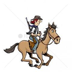 Reiter Cowboy 1 Serie Indianer