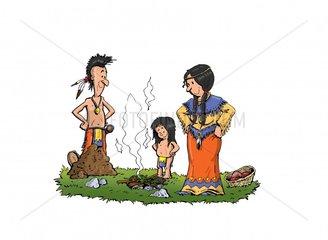 Serie Indianer Essen 1 Erdofen
