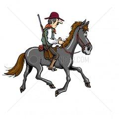 Reiter Cowboy 5 Serie Indianer