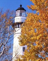 Au Sable Leuchtturm an der Kueste von Michigan  USA