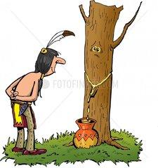 Ahornsirup Sirup Indianer