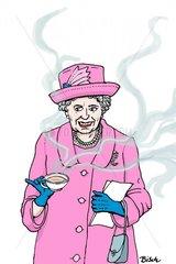 Queen Elisabeth Cartoon