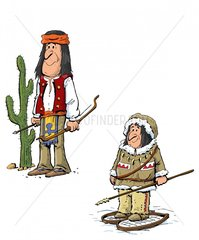 Serie Indianer Apache Eskimo