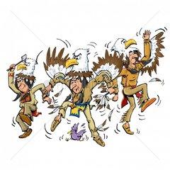 Serie Indianer Adlertanz Tanz