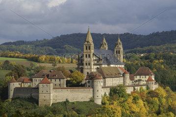 Comburg in Schwaebisch Hall-Steinbach  Baden-Wuerttemberg