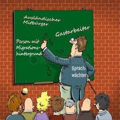 Lehrer korrektes Deutsch