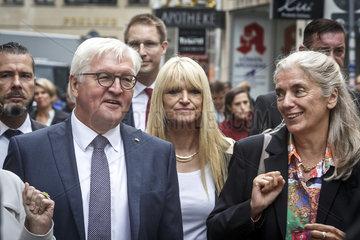 Bundespraesident Steinmeier besucht die Ausstellung Skulptur Projekte Muenster