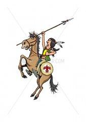 Aufruf Serie Indianer Reiter 15