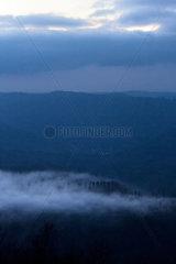 Frankreich  Blick vom Col du Donon im Elsass in den Nordvogesen