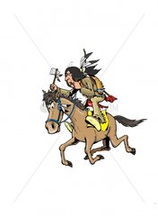 Serie Indianer Reiter 2