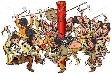 Serie Indianer Kriegstanz