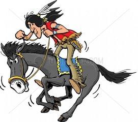 Serie Indianer Reiter 8