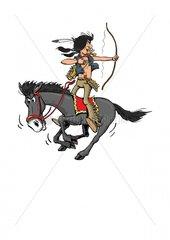 Serie Indianer Reiter 6