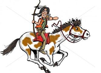 Serie Indianer Reiter 13