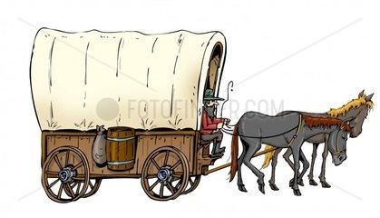 Serie Indianer Siedlerwagen