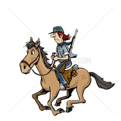 Soldat Reiter 1 Serie Indianer