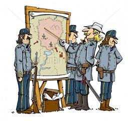 Serie Indianer Soldaten Reservat