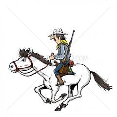 Soldat Reiter 2 Serie Indianer