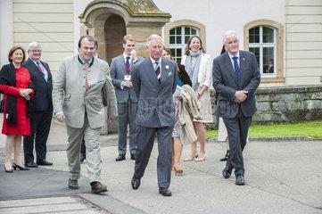 Prinz Charles zu Besuch bei seiner deutschen Verwandtschaft  Schloss Langenburg
