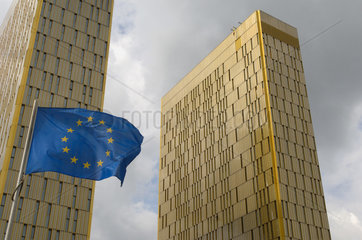Luxemburg  Hochhaeuser des Europaeischen Gerichtshofes