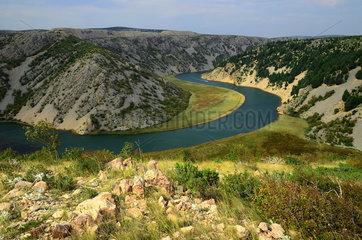 Zrmanja Fluss in Kroatien