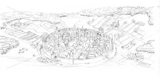 Mittelalter Stadtbild