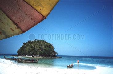 Strand Insel Boot  Krabi Thailand