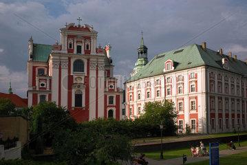 Posen  Polen  Pfarrkirche und das ehemalige Jesuitenkollegium
