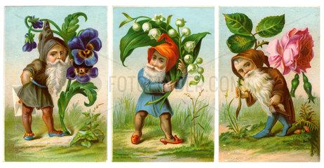 Wichtel mit Blumen  1880