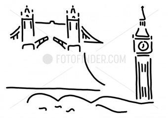 london tower bridge big ben
