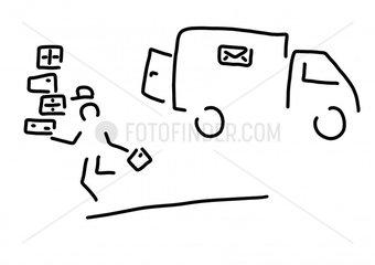 paketbote kurier post paketdienst
